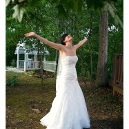 bride feeling relaxed and at peace