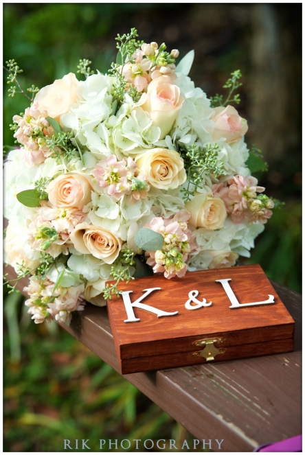 bouquet with ring box