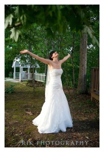 bride having a cool and calm wedding day